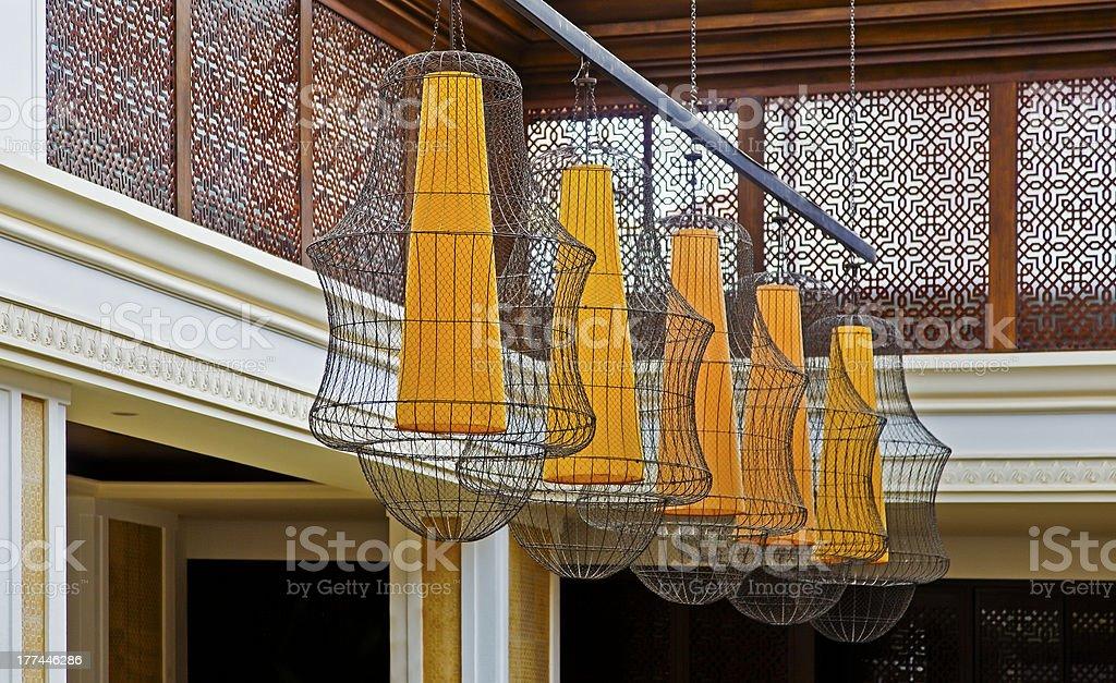 Stunning Lamp Shades royalty-free stock photo