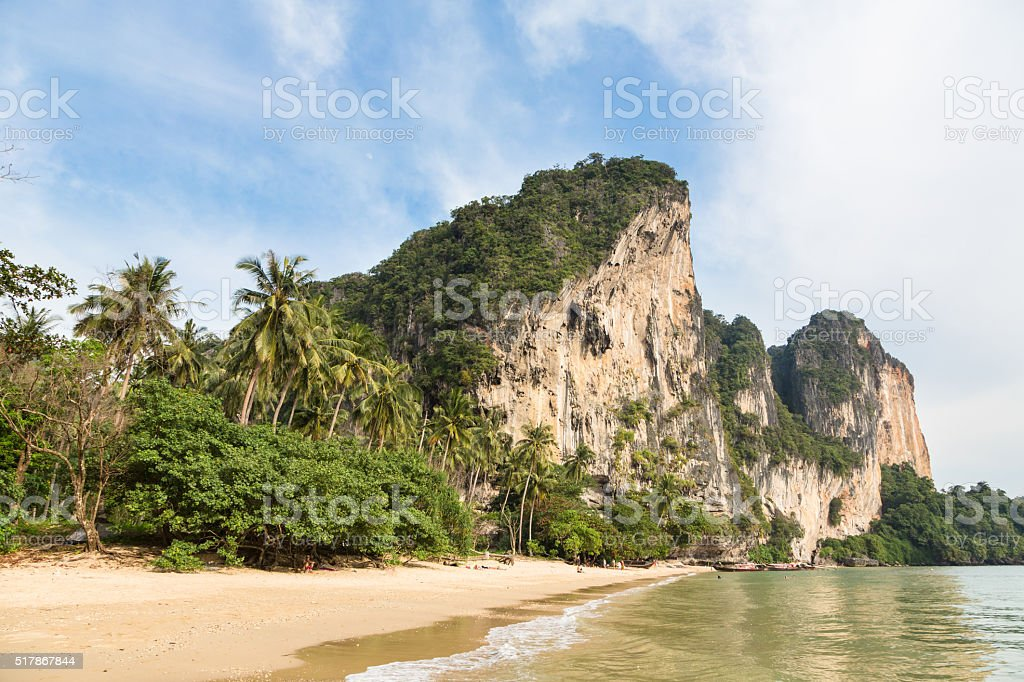 Stunning landscape around Krabi in south Thailand stock photo