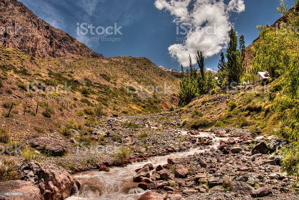 Stunning landscape in South America stock photo