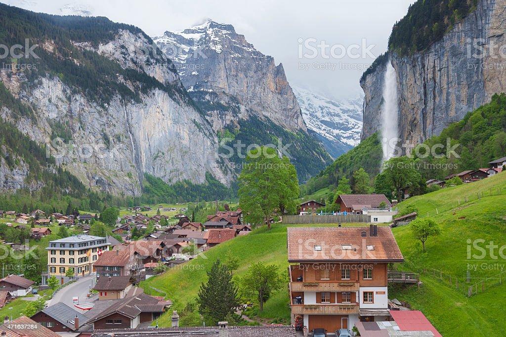 Stunning Landscape in Swiss stock photo