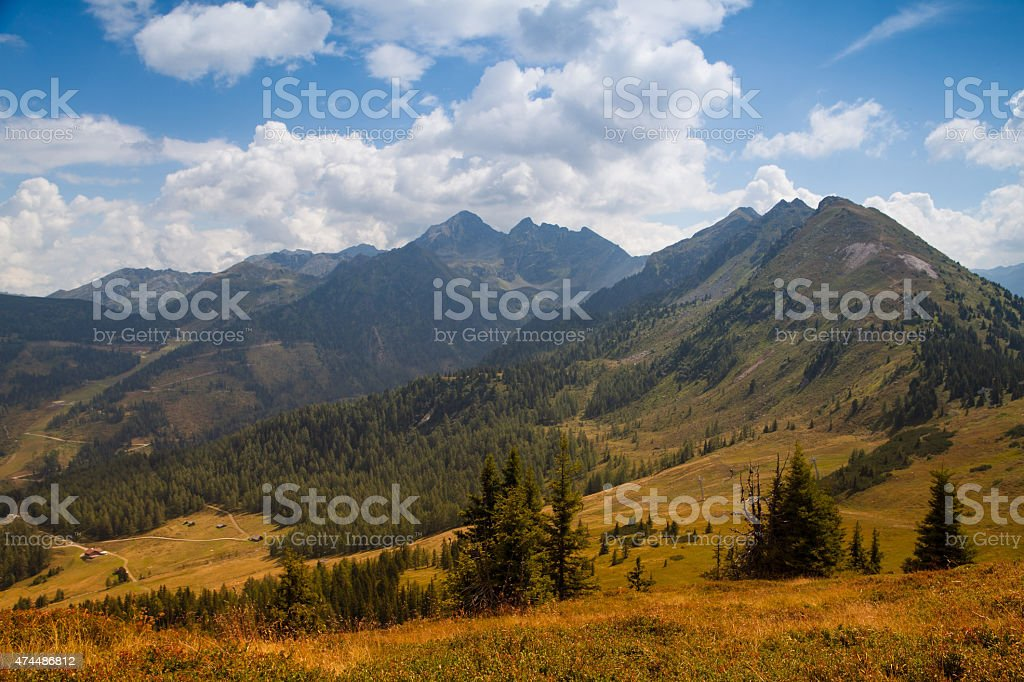Stunning landscape in the Schladming stock photo