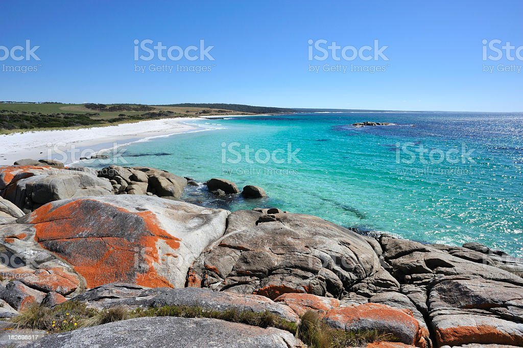 A stunning landscape of Bay of Fires stock photo