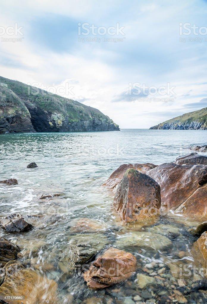 Stunning landscape of Port Quin. stock photo