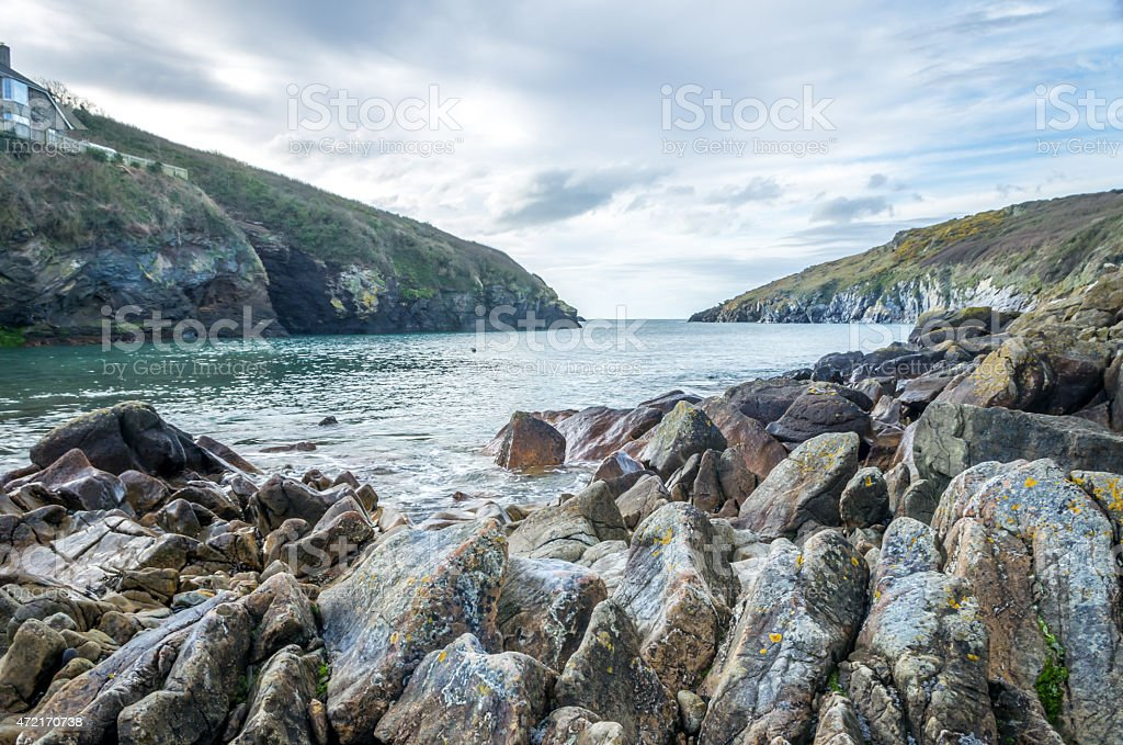 Stunning landscape of Port Quin. stock photo
