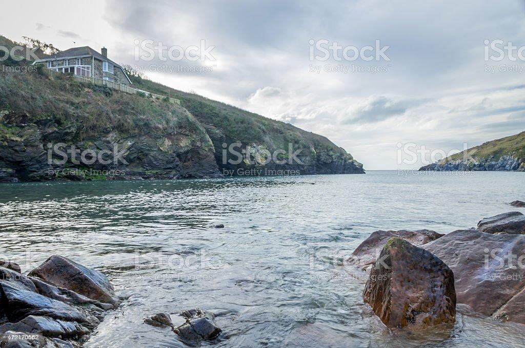 Stunning landscape of Port Quin. UK. stock photo