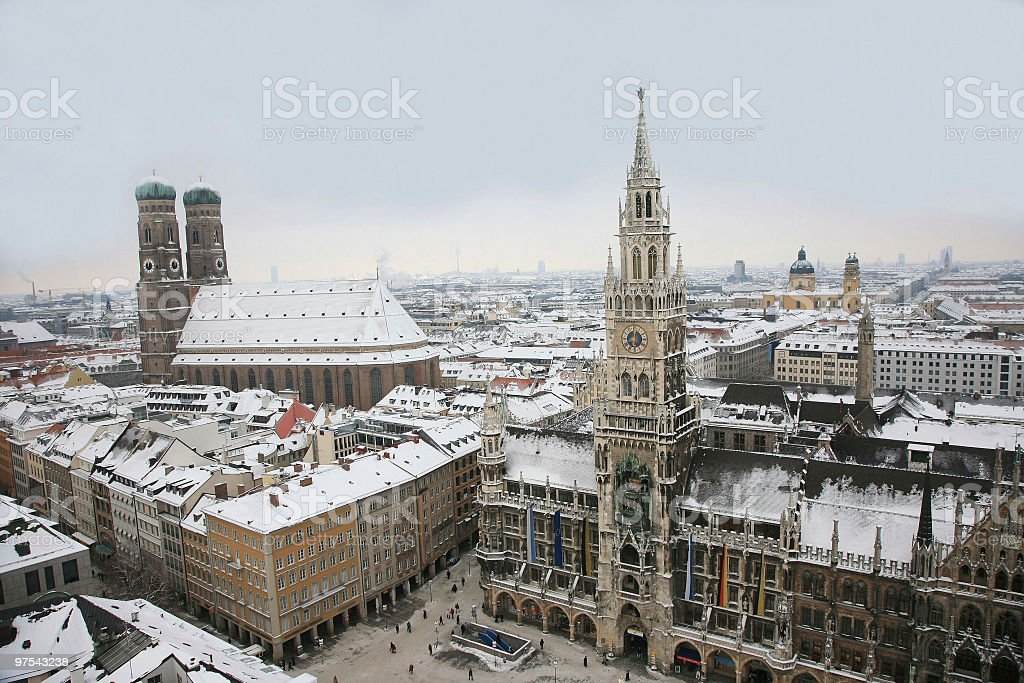 Stunning landscape photo of Munich in Germany royalty-free stock photo