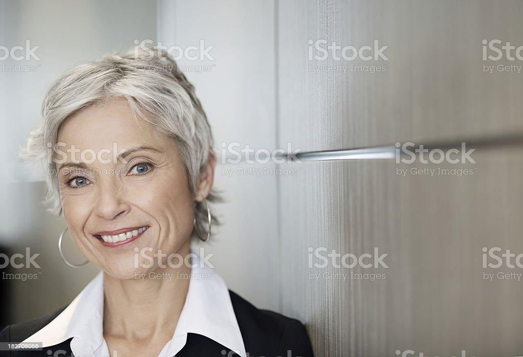 Stunning mature business woman royalty-free stock photo