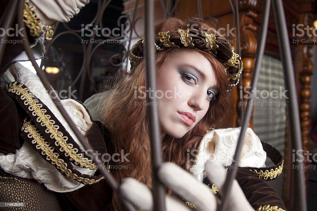 Stunning Medieval Redhead stock photo