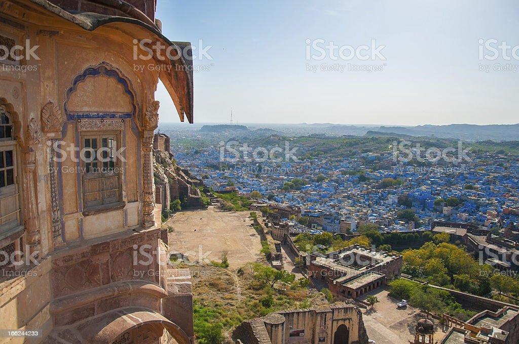 Stunning Mehrangarh Fort in Jodhpur, Rajasthan stock photo