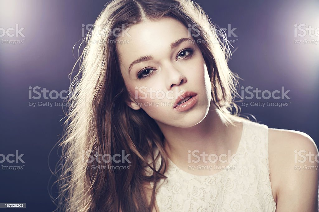 Stunning model in the limelight royalty-free stock photo