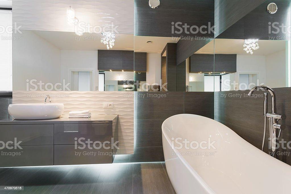 Stunning modern bathroom design stock photo