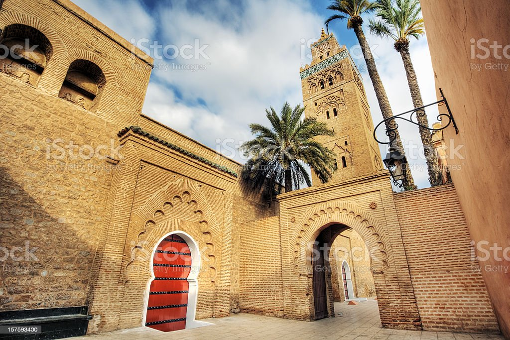 A stunning mosque in Koutoubia royalty-free stock photo