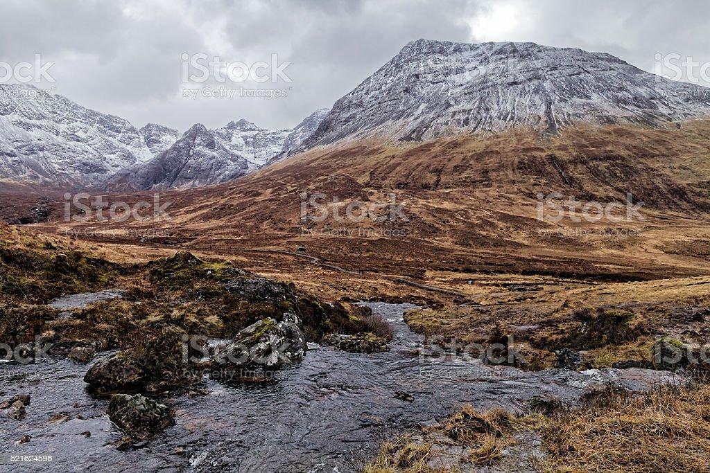 Stunning mountain view stock photo