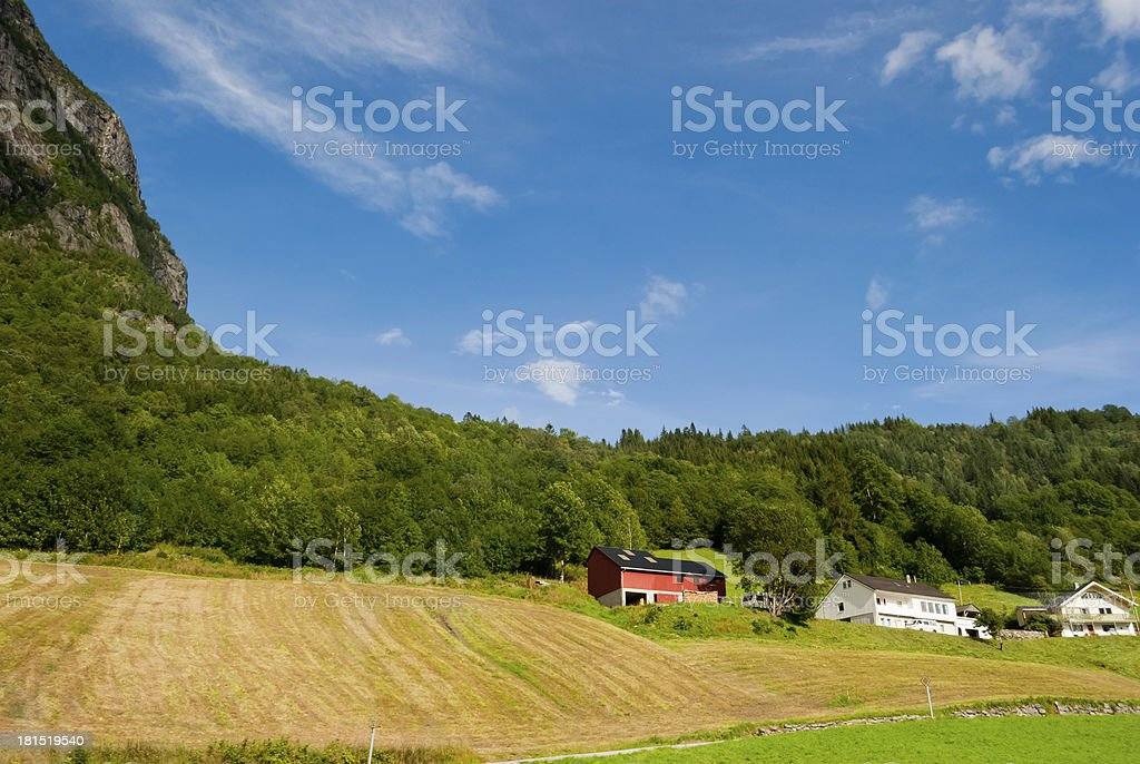 Stunning Norwegian mountain landscape stock photo