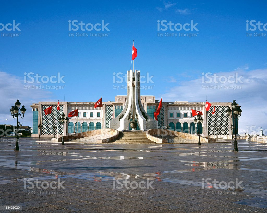 A stunning pedestrian's view of Tunis stock photo