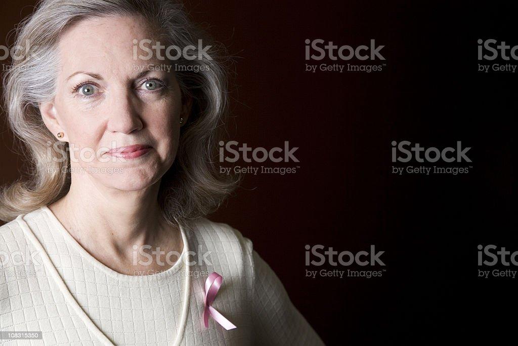 Stunning Portrait of Confident Breast Cancer Survivor royalty-free stock photo