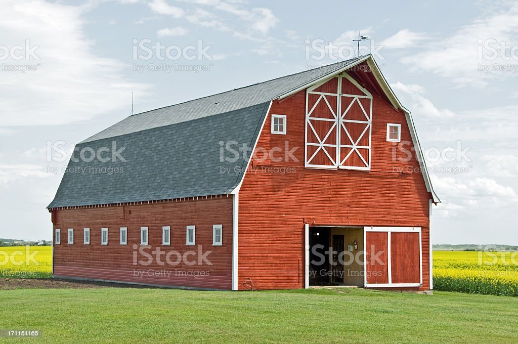 Stunning Red Barn Close-up stock photo