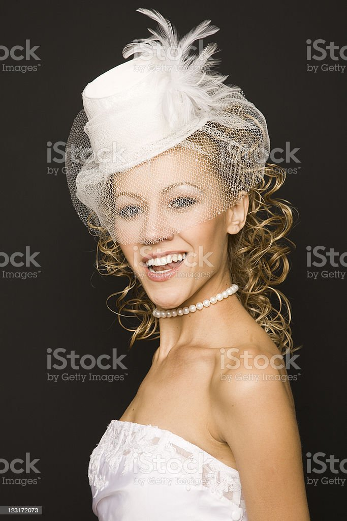 Stunning retro bride stock photo