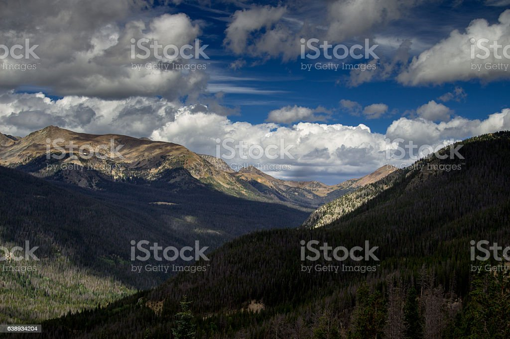 Stunning Rocky Mountain Vista stock photo
