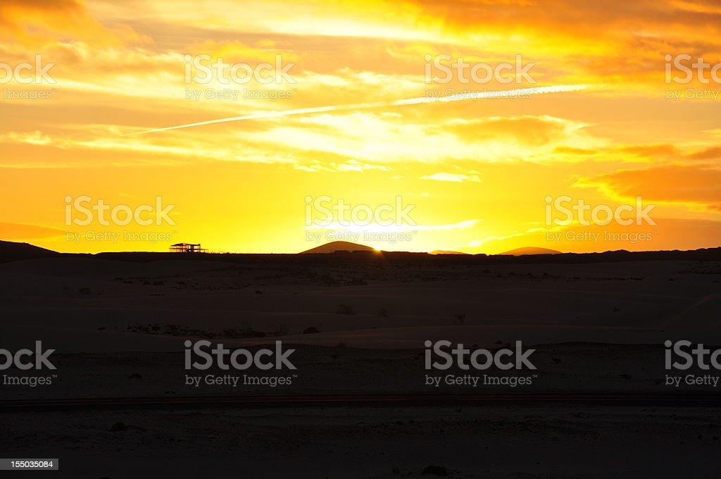 Stunning sky shortly before sunset royalty-free stock photo