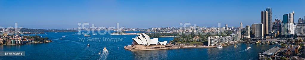 Stunning Sydney Harbour Panorama XXXL royalty-free stock photo