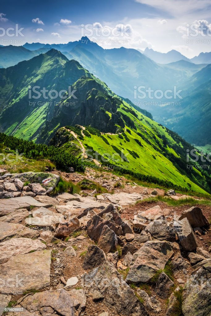 Stunning trail in the mountains, Poland, Europe stock photo
