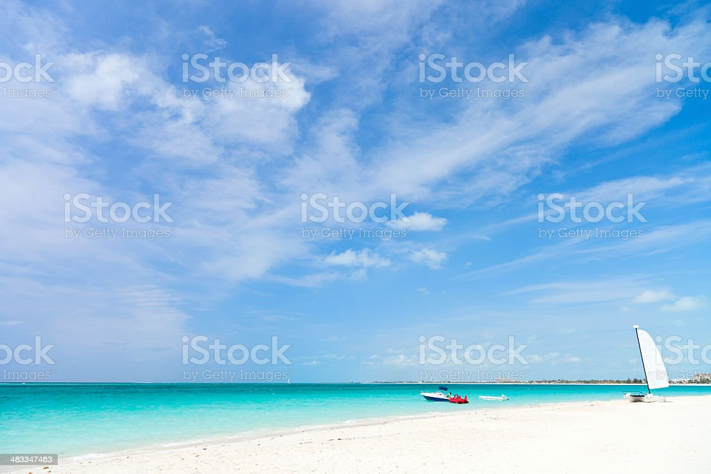 Stunning tropical beach stock photo