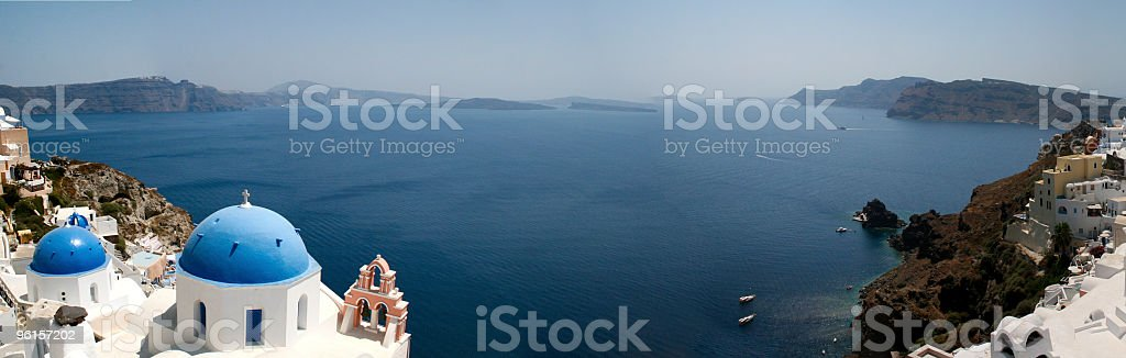 Stunning view from Oia, Santorini royalty-free stock photo