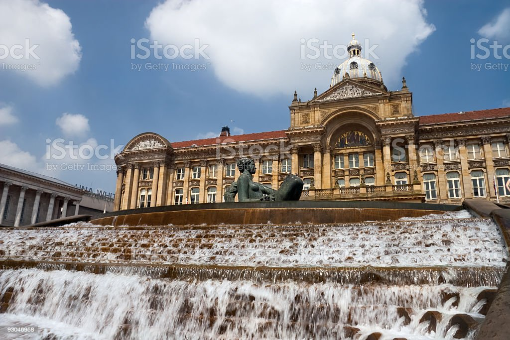 A stunning view of Birmingham Victoria Square  stock photo