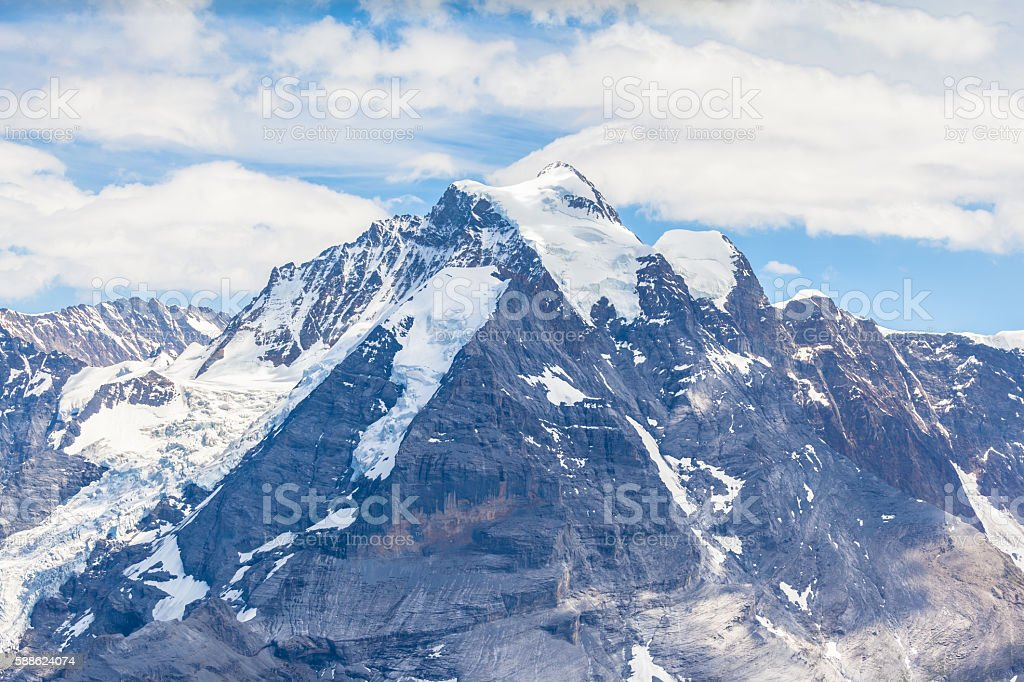 Stunning view of Jungfrau from Schilthorn stock photo