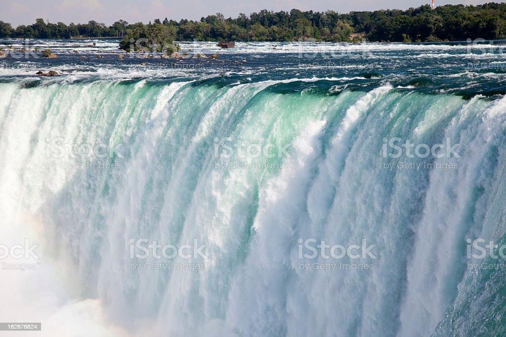 A stunning view of Niagara Falls stock photo