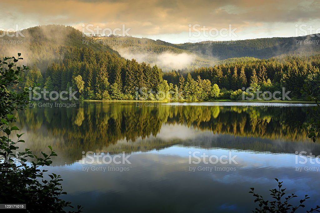 A stunning view of Se_sestausee in Harz,Germany stock photo