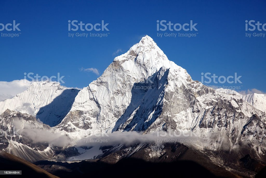 A stunning view of the Himalayan Mountains stock photo
