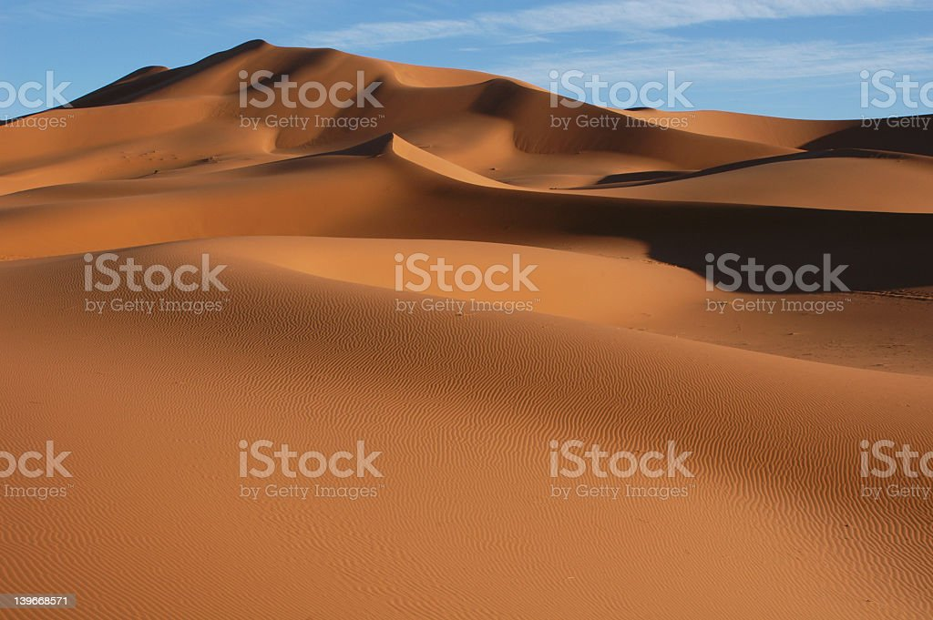 A stunning view of the Sahara desert stock photo