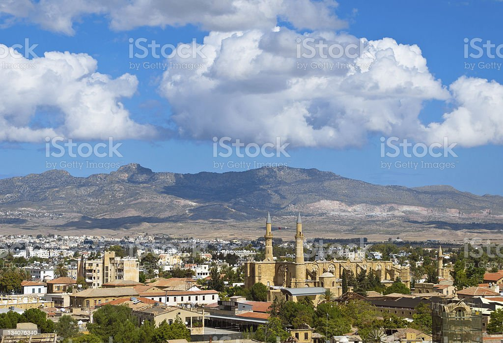 A stunning view of the Turkish side of Northern Nicosia stock photo