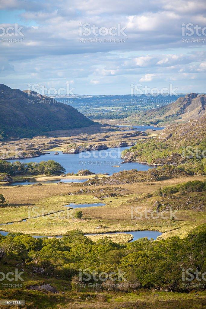 Stunning View Over The Irish Landscape stock photo