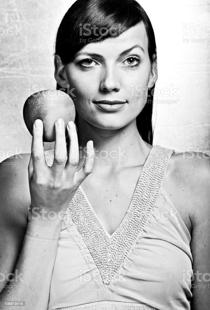 stunning woman in black and white royalty-free stock photo
