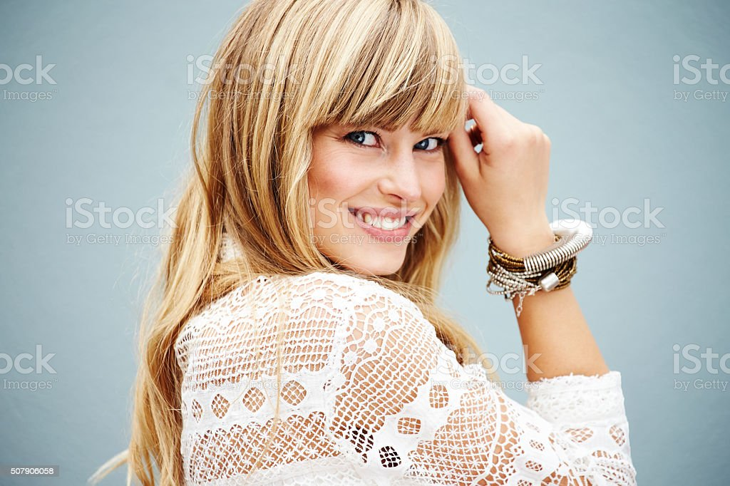 Stunning woman portrait stock photo