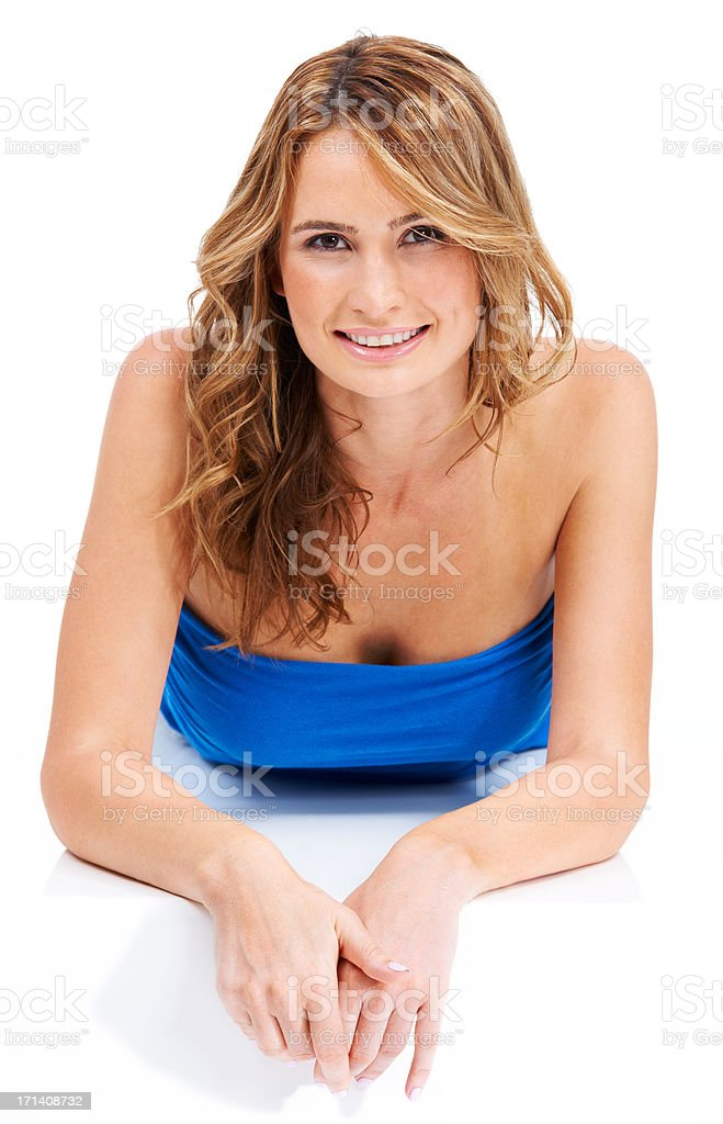 Stunning young beauty in the prime of her life stock photo