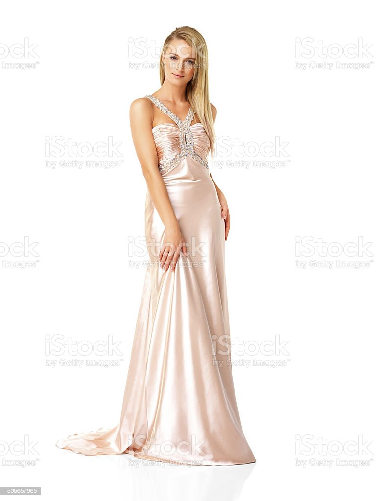 Stunning young female fashion model stock photo