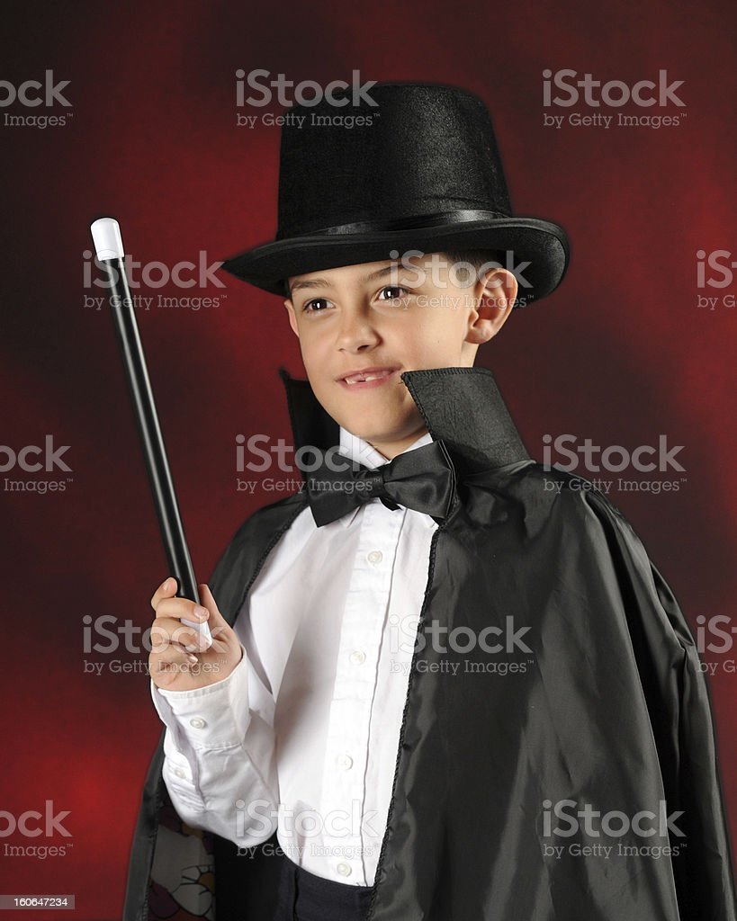 Stunning Young Magician royalty-free stock photo