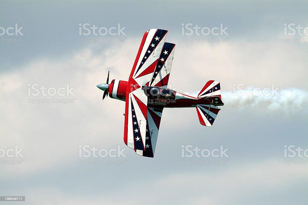 Stunt Airplane royalty-free stock photo