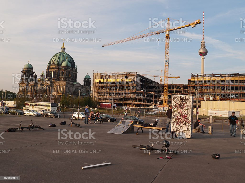 Stunt Bike Park in Berlin stock photo