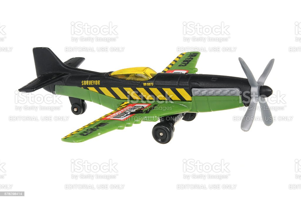 2007 Stunt Plane Matchbox Diecast Toy Vehicle stock photo