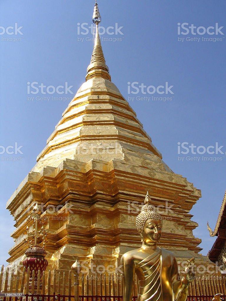 Stup Pagoda (Golden Chedi) royalty-free stock photo