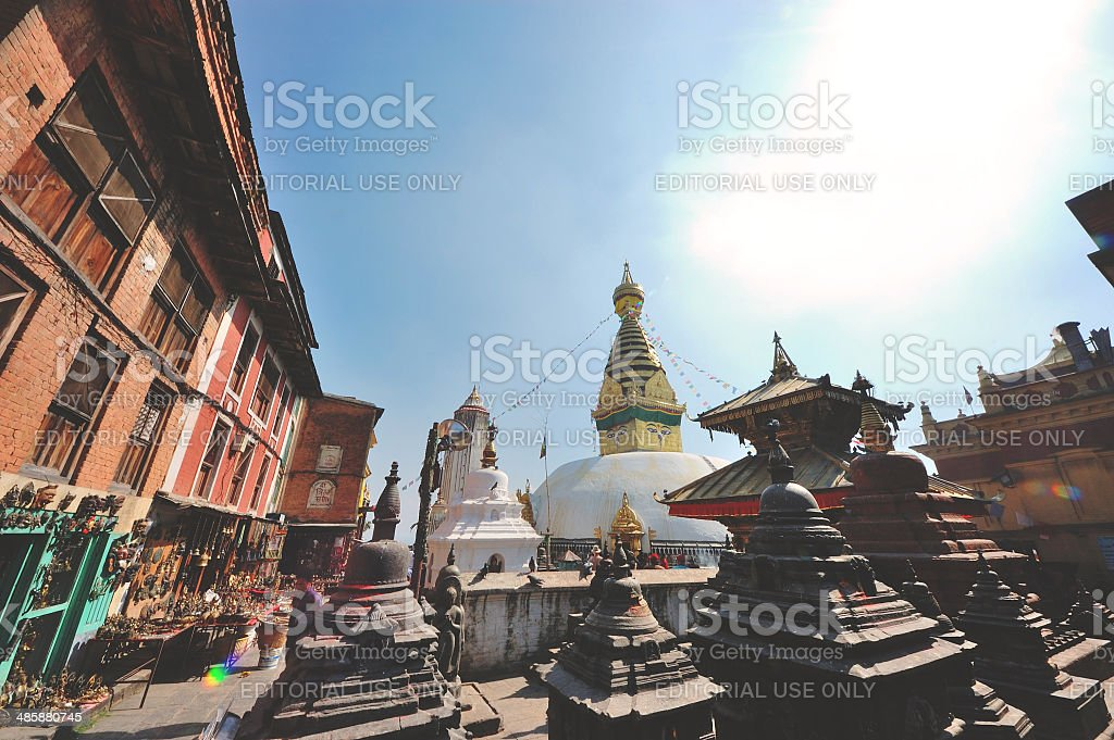 Stupa from Nepal royalty-free stock photo
