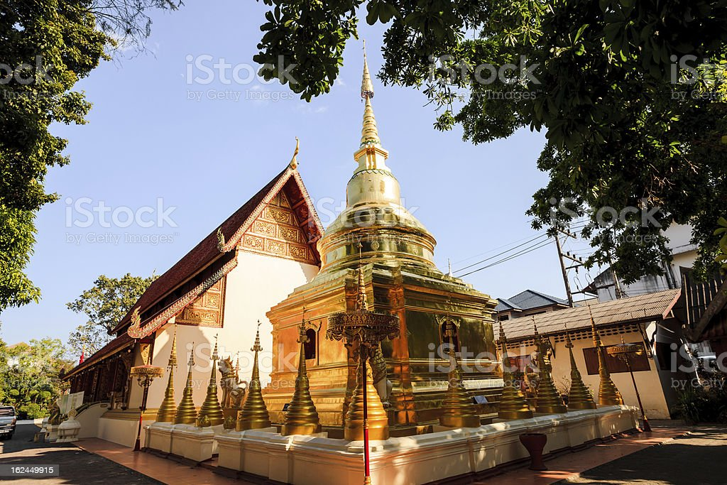 stupa in buddhist temple royalty-free stock photo