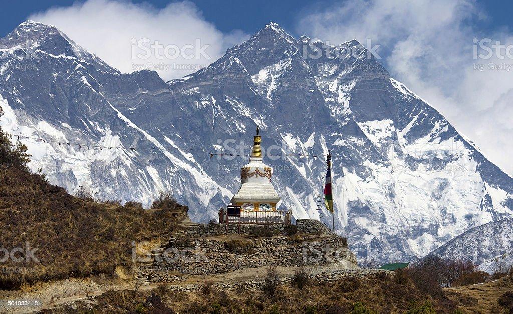 Stupa  in Himalayas, Nepal stock photo