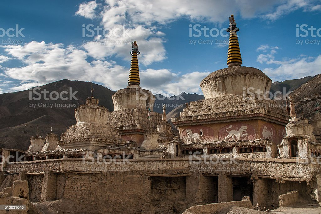 Stupa in Lamayuru stock photo