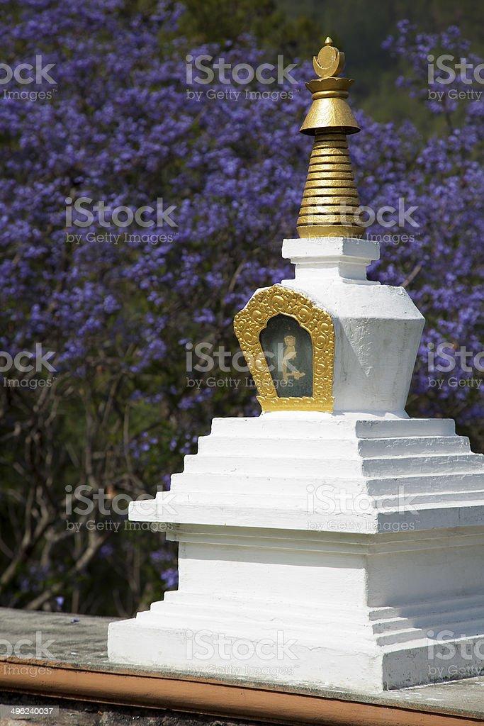 Stupa in Punakha Bhutan stock photo